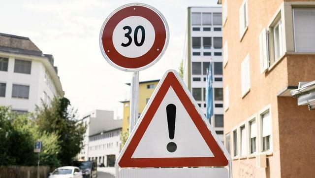 Tafel Signalisation für Tempo 30