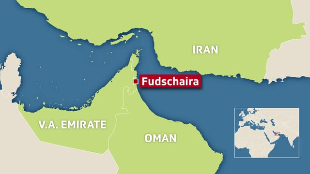 Karte vom Golf von Persien und den umliegenden Staaten