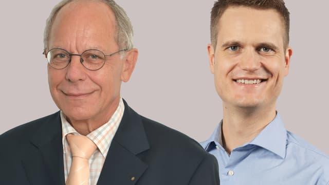 Porträtbilder der beiden Forensiker.