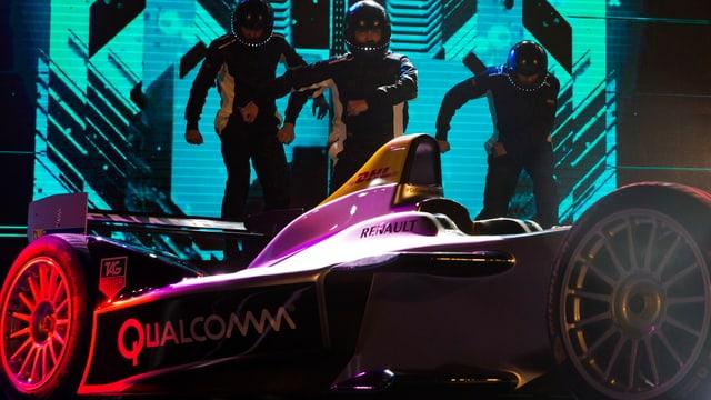 Die Formula E startet am Samstag in Peking.