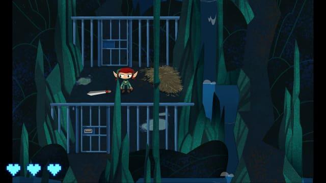 Das Spiel beginnt, wie für Adventures typisch, in einem Dungeon.