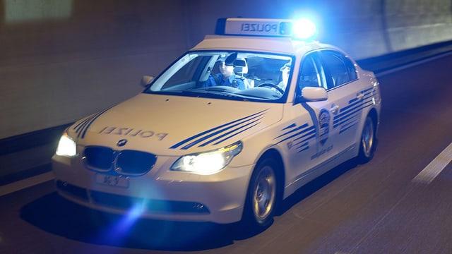 Streifenwagen der Polizei.