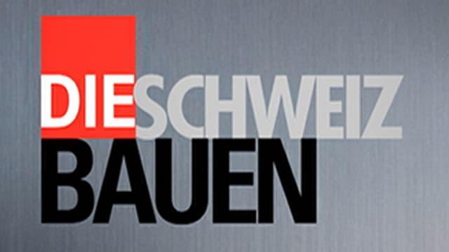 Das Logo von «Die Schweiz bauen» in grau, schwarz und rot.