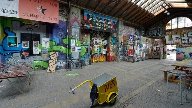 Innenhof der Reitschule, farbige Wände