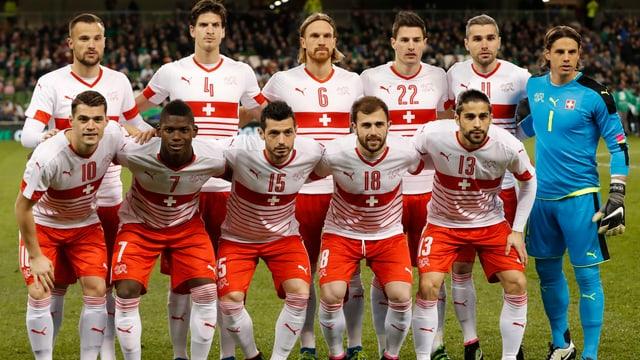 Foto der Schweizer Fussball-Nationalmannschaft.