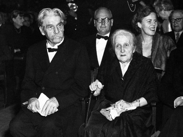 Albert Schweizer bei der Verleihung des Friedensnobelpreises im Jahr 1954.