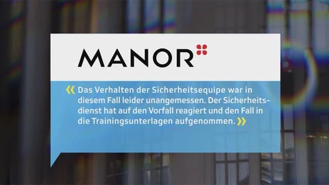 Stellungnahme Manor