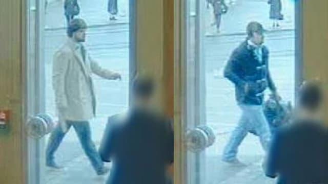 Fahnungsfotos von zwei Tätern.