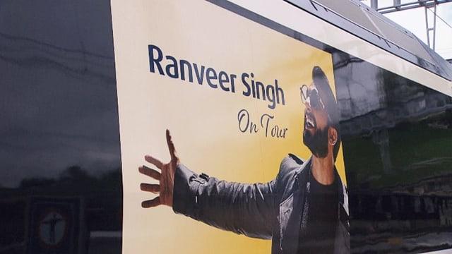 Werbung auf Zug