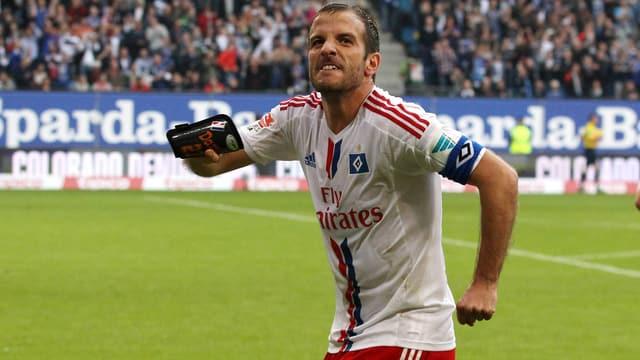 HSV-Captain Van der Vaart beisst auf die Zähne