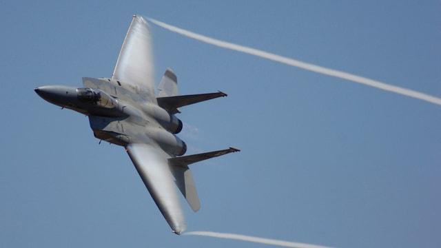 F-15-Flugzeug während einer Übung. (Symbolbild)
