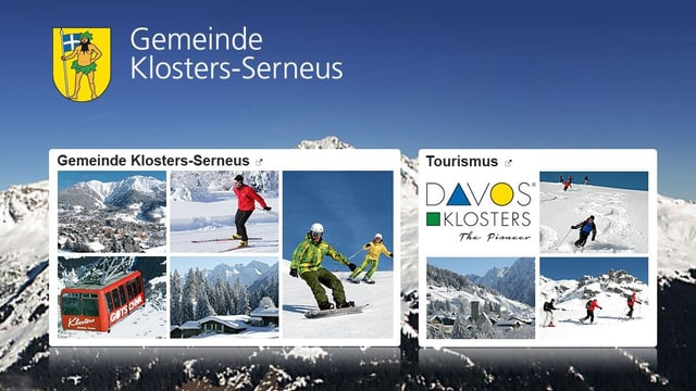 Screenshot der Website der Gemeinde Klosters-Serneus