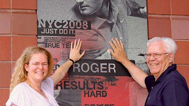 Christina Gross mit ihrem Vater beim US Open.