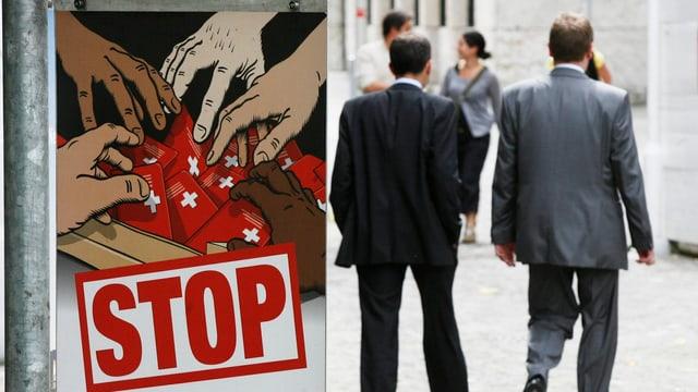 Plakat der SVP für Einbürgerungsinitiative