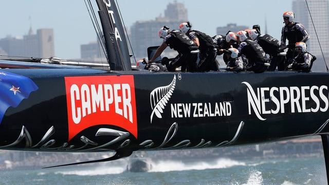 Das Team New Zealand startete mit drei Siegen in den America's Cup.