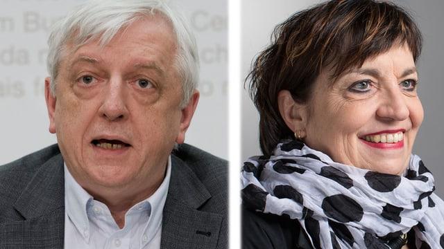 Ueli Leuenberger und Maria Bernasconi