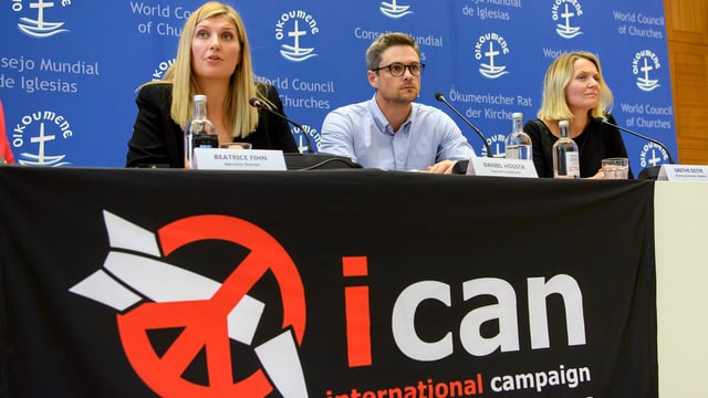 Eine Pressekonferenz von Ican.