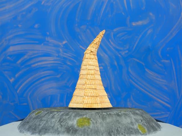 Il project victur ha la furma d'ina chapitscha da striunar, construida da schlondas.
