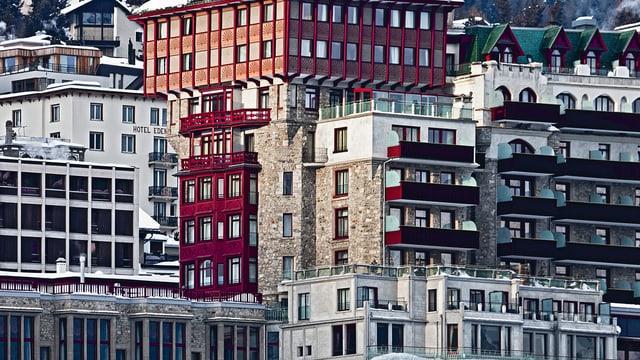 Fassade des Hotels Badrutt's Palace.