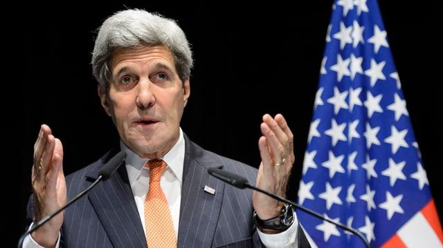 Il minister da l'exteriur american John Kerry vi dal discurrer.