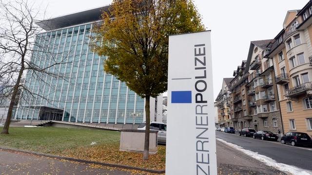 Hauptgebäude der Luzerner Polizei in Luzern.