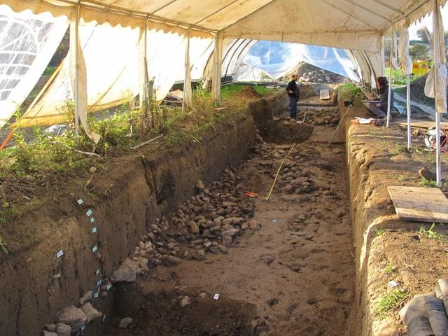 Archäologische Fundstelle im Dunkelhölzli bei Zürich Altstetten