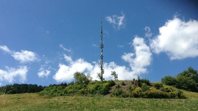 Il mast da telecommunicaziun sur Mon.