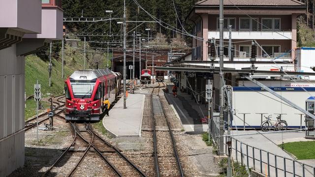 Der Bahnhof von Arosa.