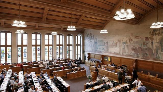 Blick in den Saal des Berner Rathauses.