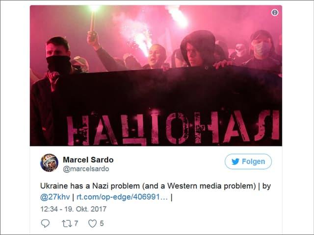 Bild eines medienfeindlichen Tweets von Sardo.
