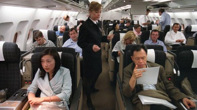 Passagiere in der Business Class.