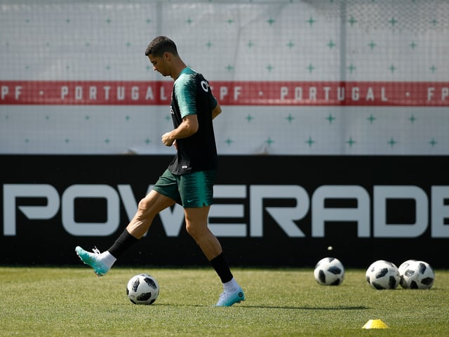 Cristiano Ronaldo im Training.