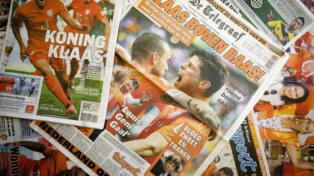 Frontseiten über die Fussball-WM 2014