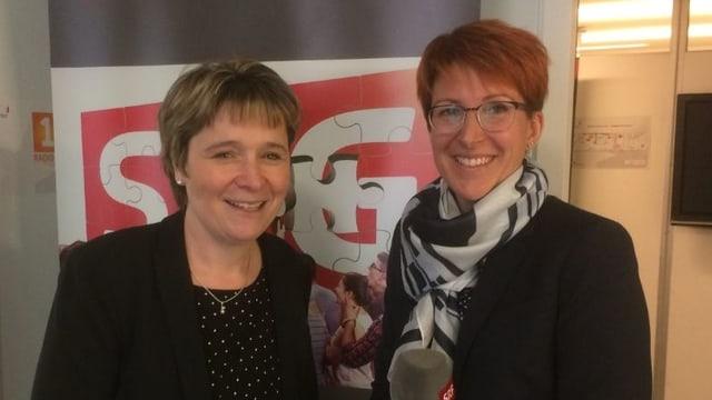 Silvia Graber (links) und Priska Dellberg.
