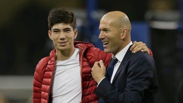 Zinédine Zidane mit Luca.