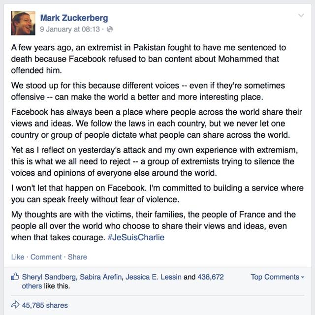 Zuckerbergs Pinnwand