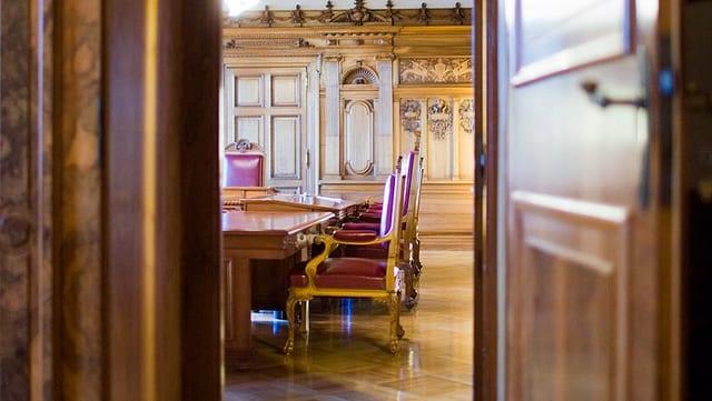 Blick in das Bundesratszimmer