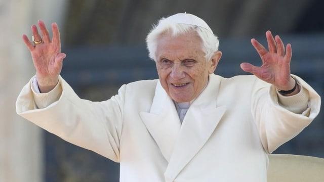 Papst Benedikt XVI. an seiner letzten Generalaudienz am 27. Februar 2013.