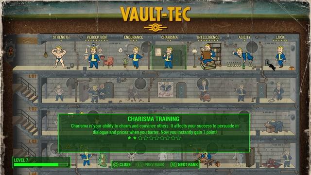 Die Tabelle mit Charakter-Eigenschaften und freischaltbaren Fähigkeiten.