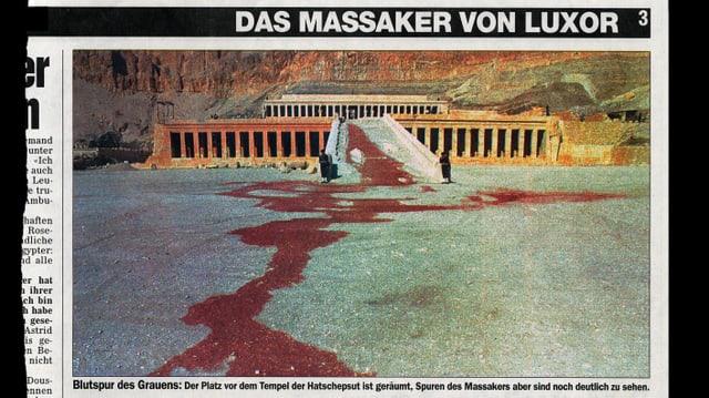 Das manipulierte Bild des Attentas von Luxor.