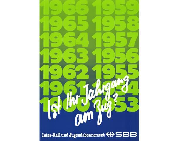 Werbung der SBB fürs Interrail
