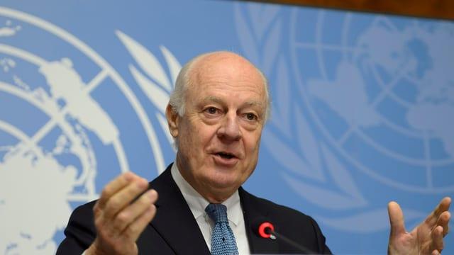 Der UNO-Gesandte für Syrien Staffan de Mistura.
