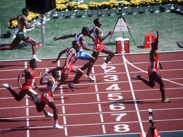Ben Johnsons vermeintlicher Olympia-Triumph in Seoul.
