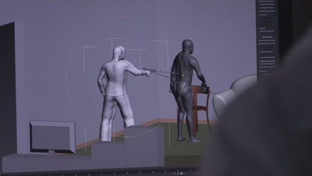 Virtuelle Rekonstruktion einer Tat.