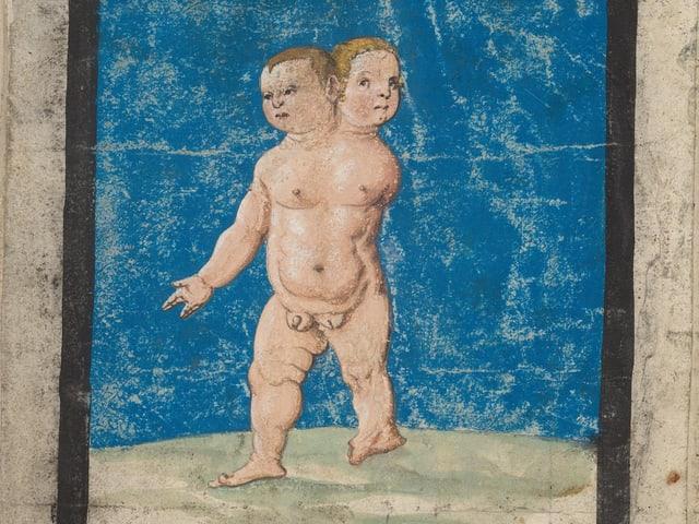 Kind mit zwei Köpfen.