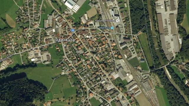Luftbild von Oberburg.