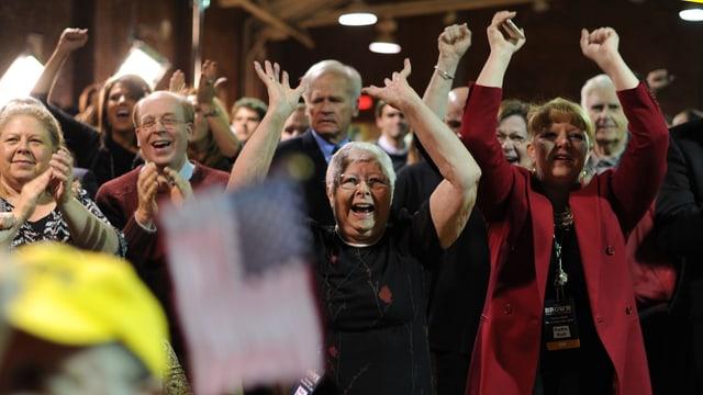 Republikanische Wähler feiern