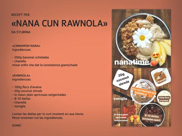 Recept per nana cun rawnola