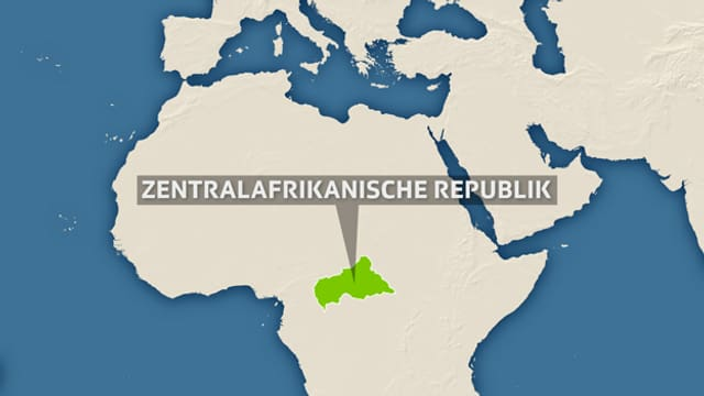 Lage der Zentralafrikanischen Republik in Afrika.