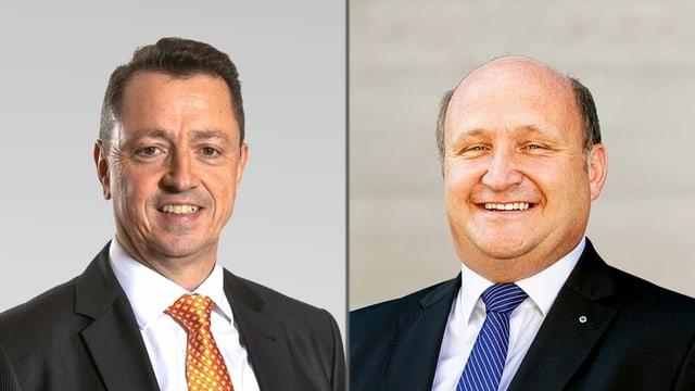 Zwei Männer mit Krawatte